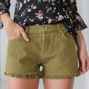 New Band of Gypsies olive green high waist shorts